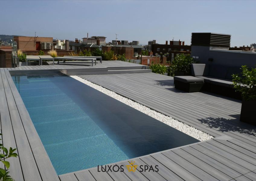 piscinas para terrazas de acero inoxidable