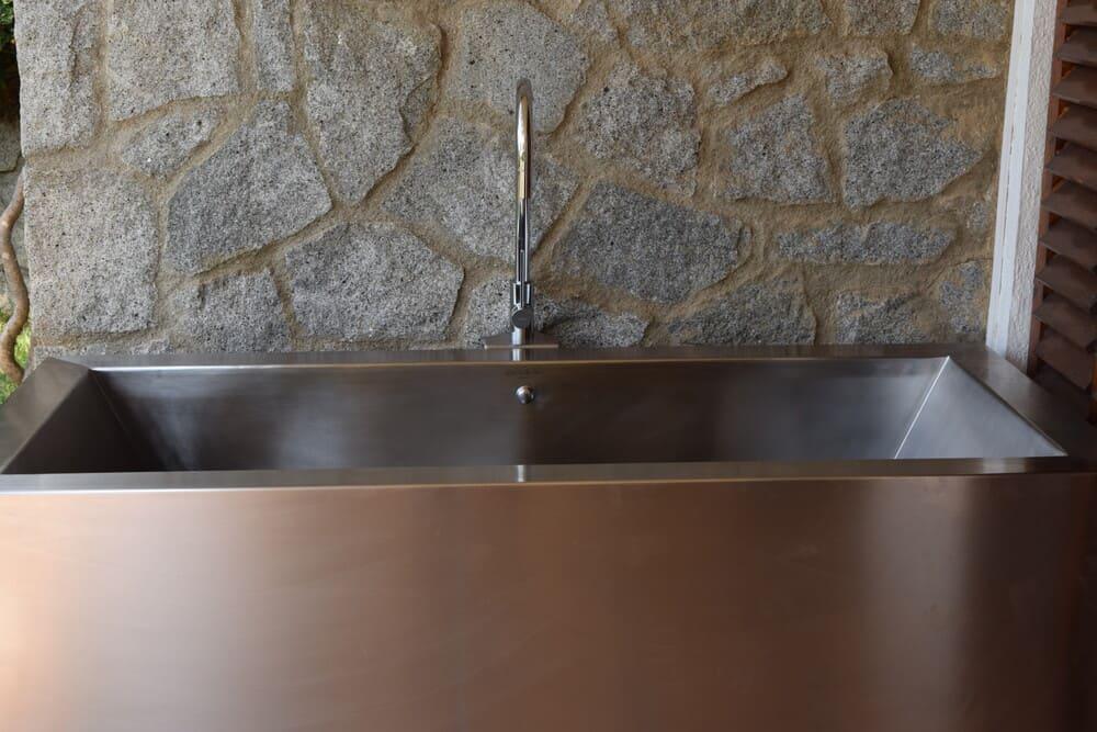 Bañera de acero inoxidable
