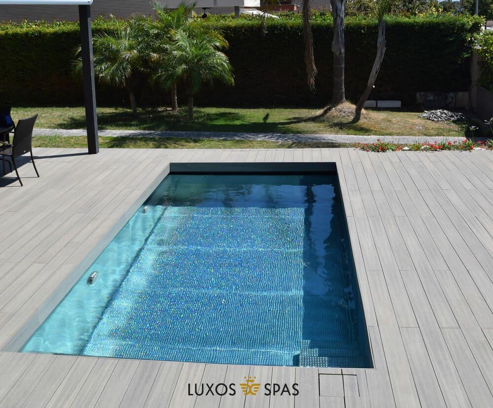 Instalación de piscina de acero inoxidable