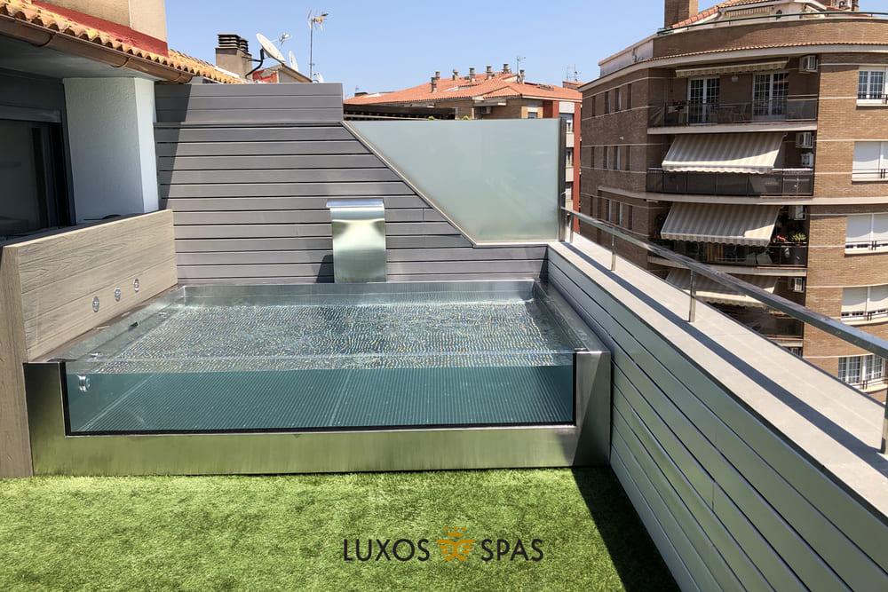 Piscina de cristal para terraza