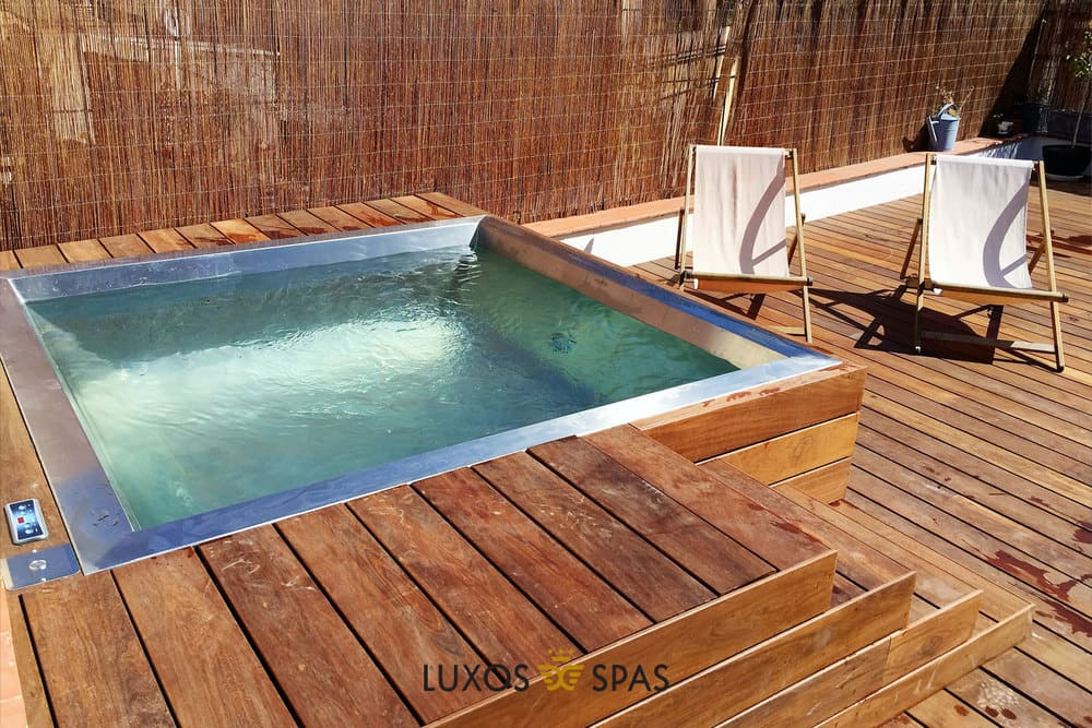 Piscina de inoxidable portable
