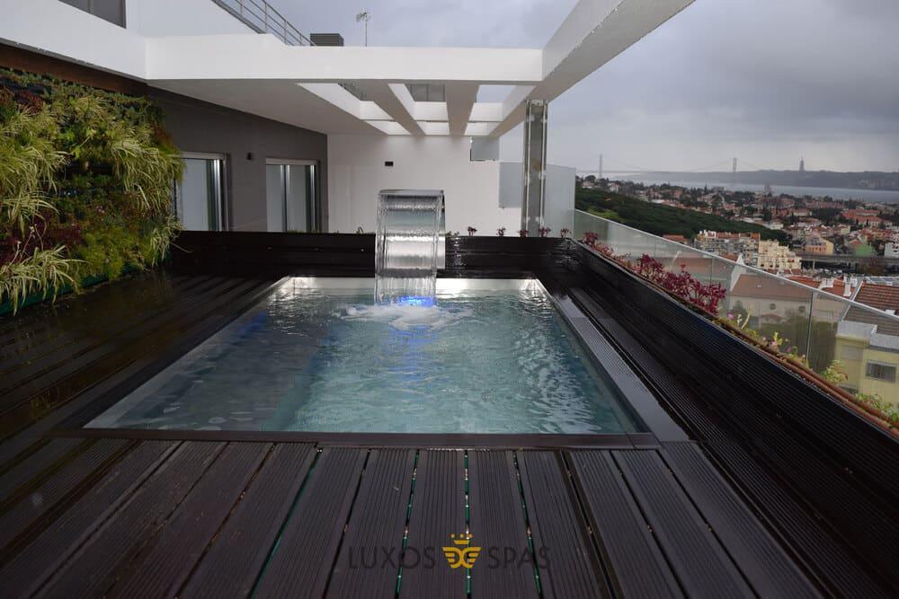 Piscinas en terrazas y áticos