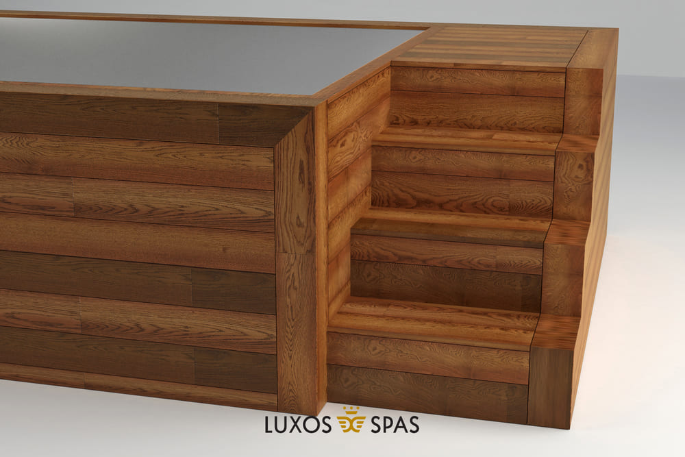 Spa portable inoxidable madera