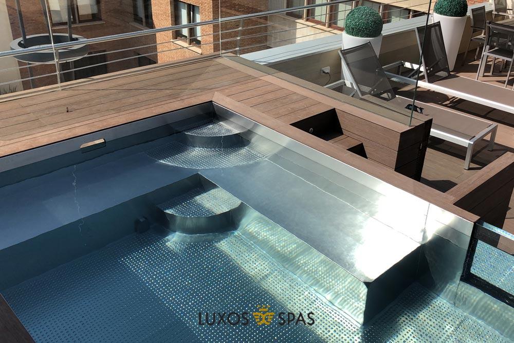 piscina acero inoxidable para terrazas