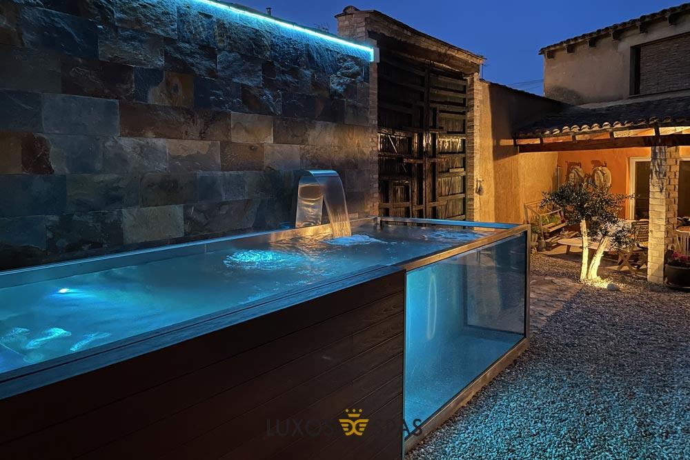 piscina dos cristales para jardín