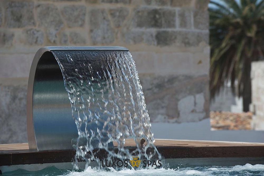 sifón para piscinas inox
